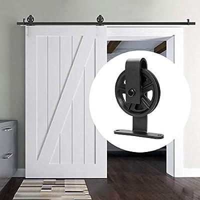 Deslizar la puerta de granero bolsa de piezas, correderas armario individual Kit, montado en la pared de metal Percha enrollables individuales deslizamiento, retro País (Size : 1.5M-Single door): Amazon.es: Bricolaje y herramientas