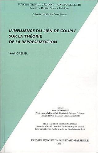 Livres gratuits en ligne L'influence du lien de couple sur la théorie de la représentation pdf