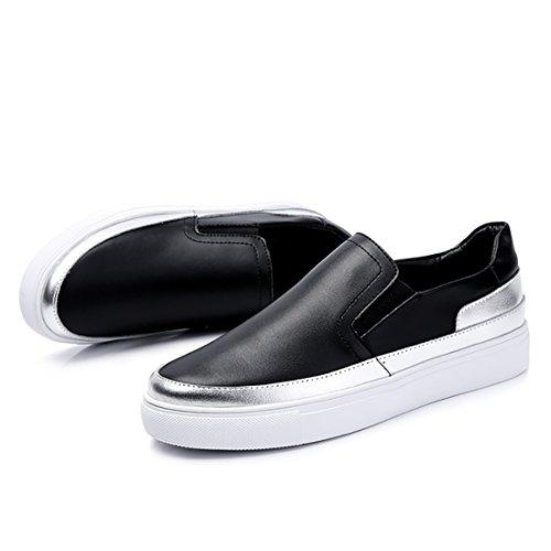 de vacuna On Negro suave cómodo Mocasines ante piel Zapatos Mujer Casual plano zapatillas Slip p1nRv5qxwt