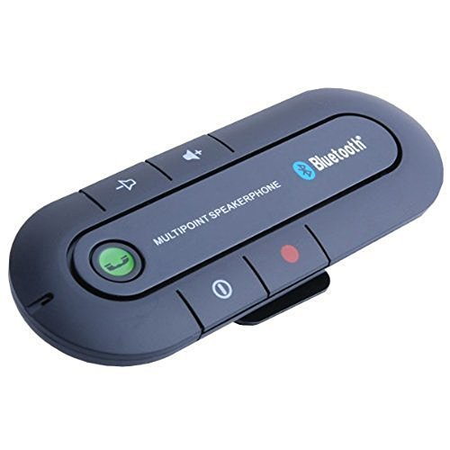 C-zone Bluetooth Hands-free Car Kit Wireless Portable Multipoint Sun Visor In-car,Speakerphone Car Kit for IPhone, iPad , and Any Bluetooth Smartphone-iPhone, Android,Blackberry,etc Black