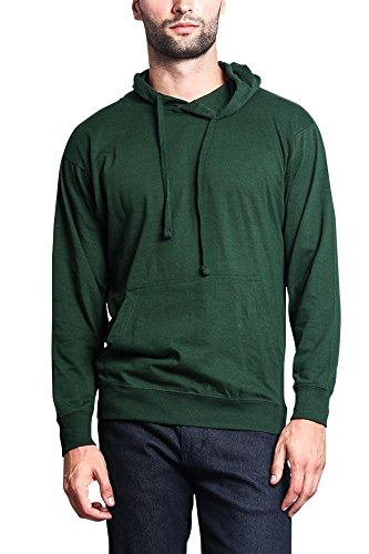 G-Style USA Cross-Dyed Heather Jersey Pullover Hoodie MH13104 - Hunter Green - X-Large - R1B