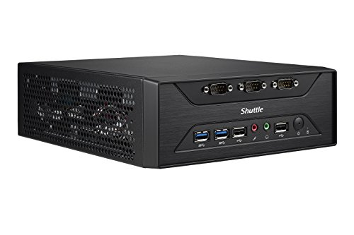 Shuttle XPC Slim XC60J Intel Celeron J3355, 8 x COM Ports, Support SODIMM DDR3L (Max. 16GB), Include Heatpipe Cooling Module