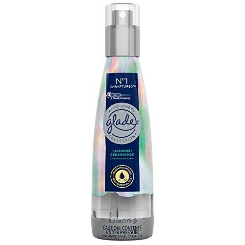 Jasmine Room Spray (Glade Atmosphere Fine Fragrance Mist Air Freshener No. 1 Enraptured: Jasmine & Cedar Wood, 6.2 oz.)