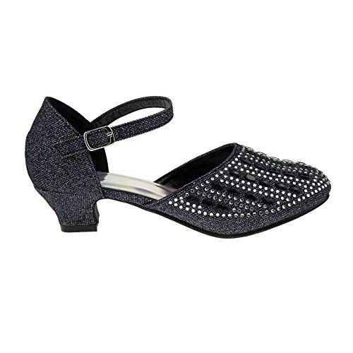 London Footwear ,  Mädchen Mary Jane Halbschuhe Schwarz
