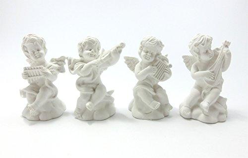 [セオヴェル]THEOVEL 石膏像 風 ミニ レプリカ 4個 セット エンジェル / デッサン 模写 模型 インテリアに / 天使 T0386