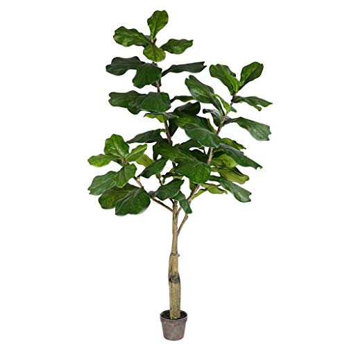 Vickerman Potted Fiddle Leaf Fig Everyday Tree 6' Green