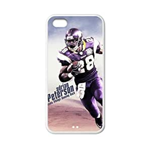 Custom Adrian Peterson Alice in Wonderland Back Cover Case for iPhone 5C OA-941