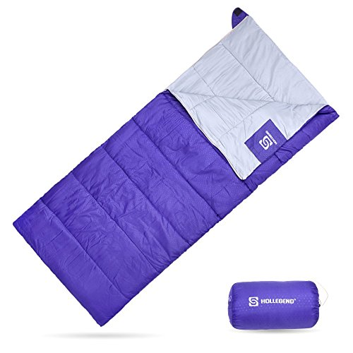 HOLLEGEND Sleeping Bag – Envelope Lightweight Portable,Waterproof,Perfect for Camping,Hiking,Backpacking,Traveling and Outdoor Activities