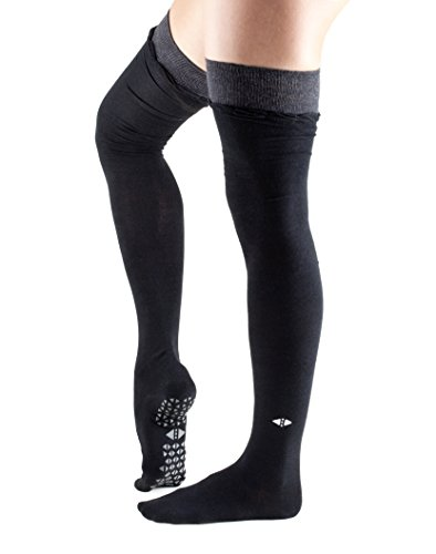Tavi Noir Fashion Johnny Over the Knee Thigh High Grip Socks (Ebony) Small