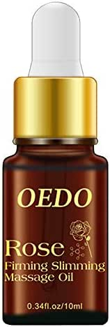 Chezaa OEDO Rose Firming Slimming Massage Essential Oil Extract Reduce Body Fat Oil, Enhancing Fat Burning Effect for Arms, Waist, Lower Abdomen, Thighs, 0.34 fl. oz (Yellow)