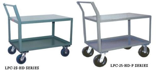 - Jamco Products, Inc., Heavy Duty Low Profile Carts With Offset Handle - 4800 Pound Capacity With 8 In Phenolic Casters, Lpc-2S-Hd-P-3024, W X D X Shelf Height: 30 X 24 X 30, Sw230-P8