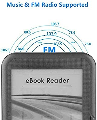 Nrpfell Lector de Ebook de 6 Pulgadas y 4 GB E-Ink Capacitiva e ...