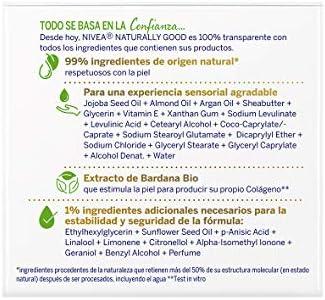 Nivea Naturally Good Crema de Día Antiedad, 50ml