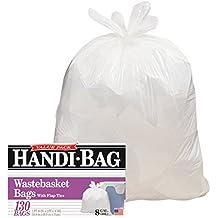 Handi-Bag HAB6FW130 Super Value Pack, 8gal, 0.6mil, 22 x 24, White (Box of 130)