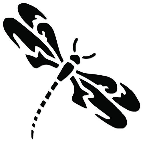 Tribal Art Dragonfly Vinyl Decal Sticker For Vehicle Car Truck Window Bumper Wall Decor - [6 inch/15 cm Tall] - Gloss WHITE ()