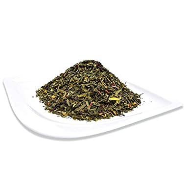 Organic Lychee Green Tea, Loose Leaf Bag, Positively Tea LLC. (1 lb.)