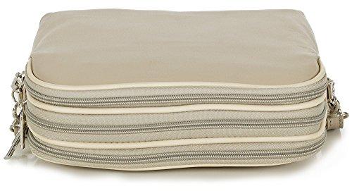 Taschenloft, Borsa a tracolla donna 20 x 16 x 9 cm Beige (Ivoire)