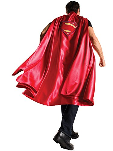 Rubie's Men's Batman V Superman: Dawn of Justice Deluxe Adult Superman Cape, Red, One Size ()