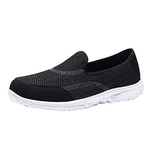 Juleya Zapatillas de Deporte de Malla Ligera para Mujeres Zapatillas de Deporte Transpirables y Transpirables Zapatillas de Deporte para Caminar Calzado Sneakers Negro