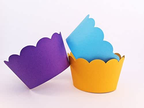 Scallop Cupcake Wrappers - baking supplies - party supplies