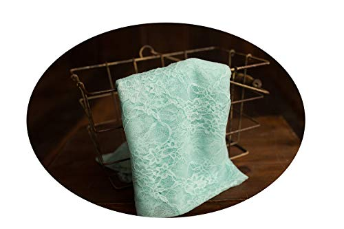 Stretch Lace Wrap, Newborn Baby Layer Photography Prop (Seafoam) -