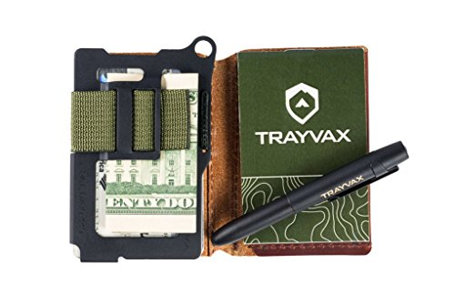 Green Bundle RFID Notebook Resistance Leather Cover Brown OD Bullet Grain Space and Wallet Minimalist All Trayvax Summit Notebook Leather Includes In Top Summit Weather Fisher Pen OqS8Fgw