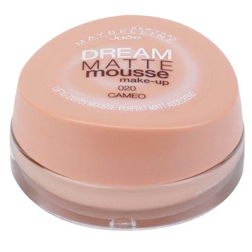 Maybelline New York Make-Up Dream Matte Mousse Cameo 20 / Schminke in einem Hautfarbe-Ton mit mattiertem Finish, 1 x 18 ml