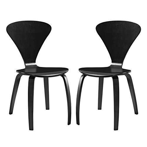 Modway Vortex Dining Chairs (Set of 2), Black