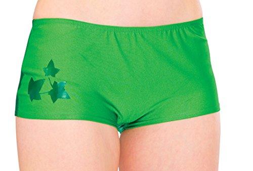 Rubie's Women's DC Comics Poison Ivy Boy Shorts, Green, One Size -