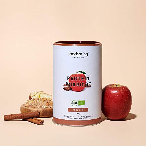 Foodspring Porridge Proteico Manzana Canela 420g Porridge De Soja 100 Organica Menos Azucares Anadidos Mas Sabor Autentic