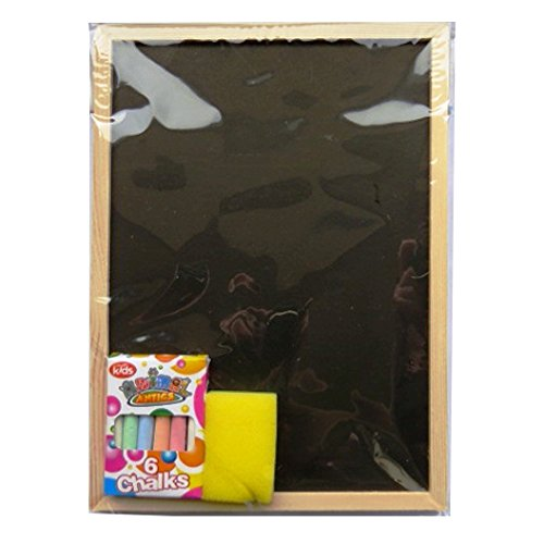 Childrens Blackboard & Chalk Set – Chalk Board (Pine Frame), Duster and Chalks – Size 11.4' x 8.2' Duster and Chalks – Size 11.4' x 8.2' RSW