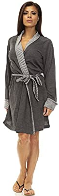 IZOD Womens Lightweight Cotton Blend French Terry Robe