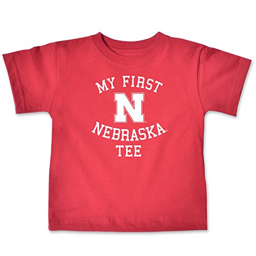 NCAA Nebraska Cornhuskers Infant Short Sleeve Tee, 12 Months, Red