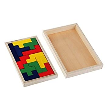 12 Piece Big Tangram Puzzles Children Educational Wooden Toy