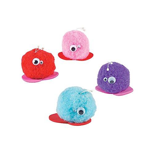 Plush Valentine Pom-Pom Critters ()