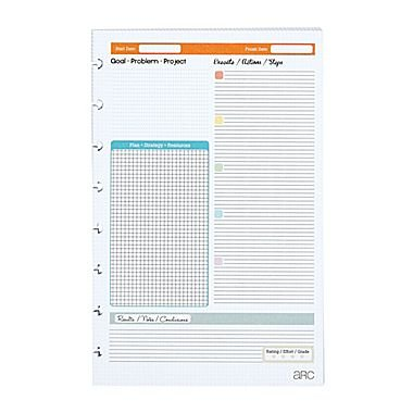 "Staples Arc System Project Planner Refill Paper 5 1/2"" x 8 1/2"""