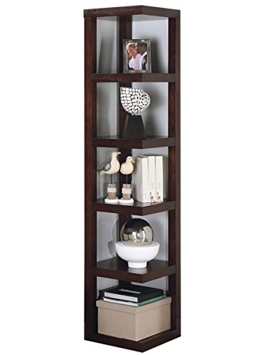 Coaster Contemporary Cappuccino Corner Bookcase -