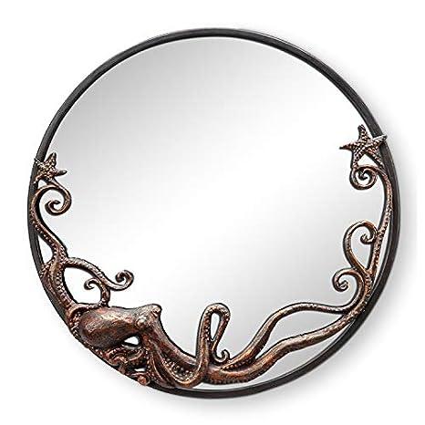 Amazon.com: Pulpo espejo de pared redondo: Home & Kitchen