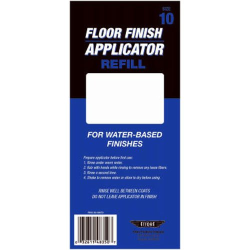 Ettore 33410 Water-Based Floor Finish Applicator Refill, 10-Inch