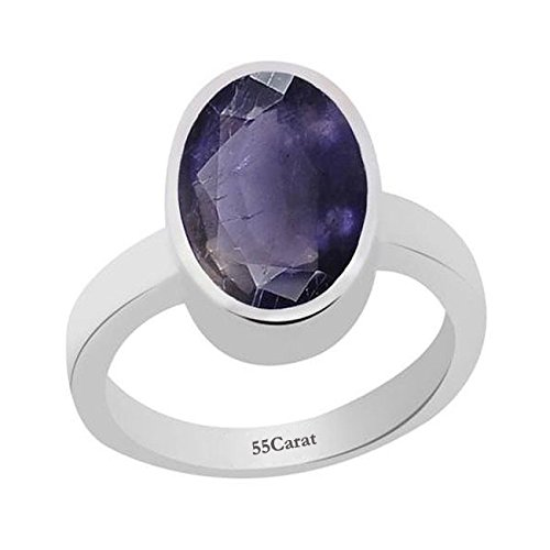6 CT Natural Stunning Iolite Stone 925 Sterling Silver Handmade Ring