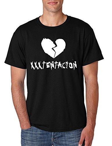 Allntrends Men's T Shirt Xxxtentacion Cool Trendy Tshirt Hot Rap Tee (S, Black)