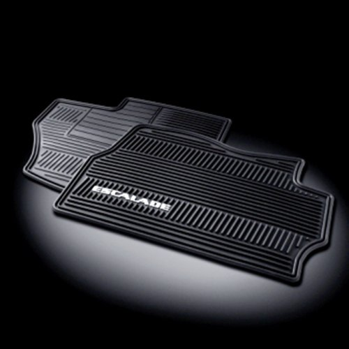 Front Mat Gm - GM # 17803323 Floor Mats - Front Premium All Weather Set - Ebony with Escalade Logo