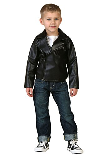 Toddler Boys Grease T-Birds Black Movie Jacket Costume - -