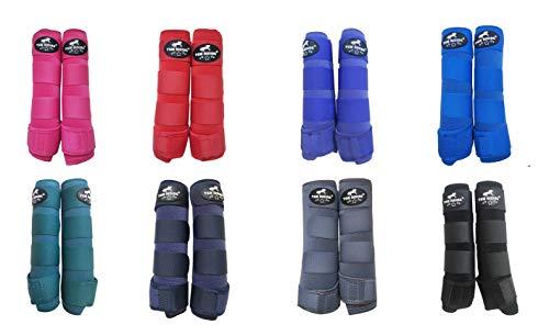 TGW RIDING Horse Sports Medicine Boots Horse Leg Wraps (Royal Blue, L)