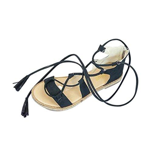 Sandali Da Spiaggia Gladiatore Digood Per Le Donne, Le Signore Delle Ragazze Teencross Hanno Legato Le Scarpe Piatte Pantofole Verdi