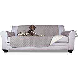 Furhaven Pet Reversible Furniture Cover Protector Pet Bed for Dogs and Cats, Sofa, Gray/Mist