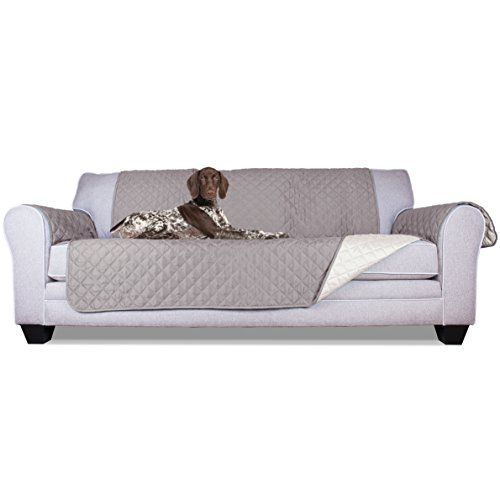 FurHaven Pet Furniture Cover | Reversible Sofa Furniture Cover Protector, Gray & Mist