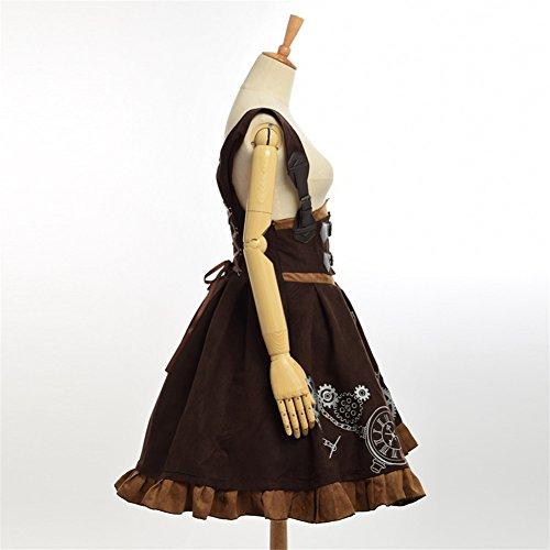 Steampunk Vestito Ricamo Jsk Marrone Lolita Corsetto Vestito Donne Vestito Mantello Blessume zRwWnxdqTz
