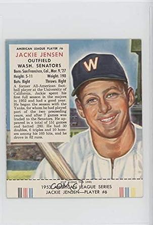 Amazoncom Jackie Jensen Baseball Card 1953 Red Man