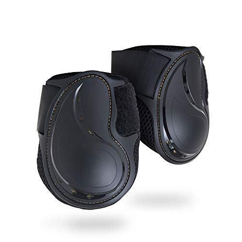 (Kavallerie Classic Fetlock Boots, Impact-Absorbing and Air-Perforated Material, Durable & Evenly Distributes Pressure, Fetlock Injury Protection, Non- Slip with Soft Lining Show Jumping Boots)